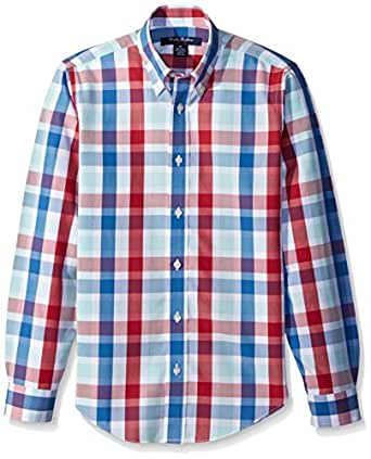 Brooks brothers big boys 39 non iron checker plaid sport for Brooks brothers non iron shirt review