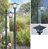 Set of 2 Solar Powered Post Lights from Good Ideas - Light up your paths, decking, patio. Use as post light or wall lantern.