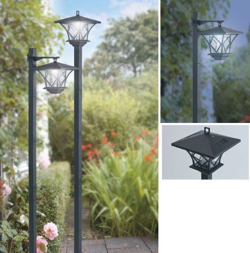 Garden Solar Post Lights (1027) Set Of 2 Post Lights To Light Up Your Garden , Decking Or Path.