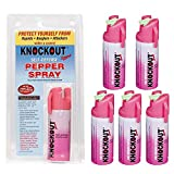 Knockout Pepper Spray with Glow-In-Dark Trigger (Pink,35 Grams)