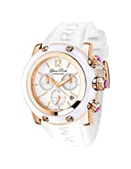 Glam Rock Women's GR10195 Miami Collection Chronograph White Silicone Watch