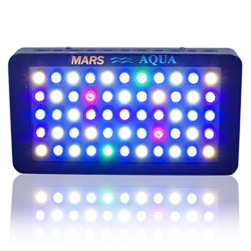 MarsAqua Dimmable 165W LED Aquarium Light Lighting Full Spectrum For Fish Freshwater and Saltwater Coral Tank Blue and White LPS/SPS (Lg Range Hood 30 compare prices)