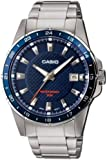 Casio MTP-1290D-2AVEF Men's Analog Quartz Watch with Blue Dial, Steel Bracelet and Date Indicator