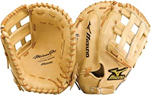 Mizuno Pro GMP30 Baseball Firstbase Mitt, Tan, 12.50-Inch, Right Handed Throw