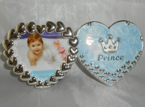6.3 Inch Double Heart Prince Frame - Blue - 1