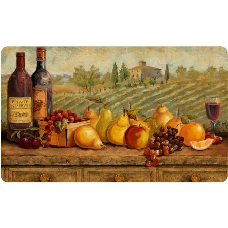 Tuscuny Wine,Grapes,Apples,Pear,Fruit Kitchen foam rug/mat (Grapes Rug compare prices)