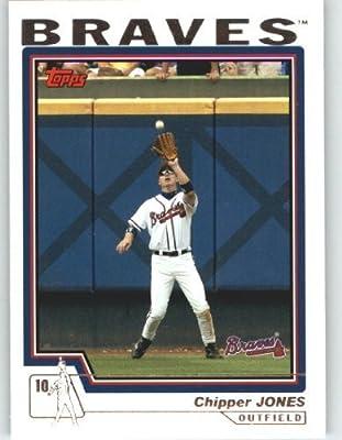 2004 Topps Baseball Card # 390 Chipper Jones - Atlanta Braves - MLB Trading Card