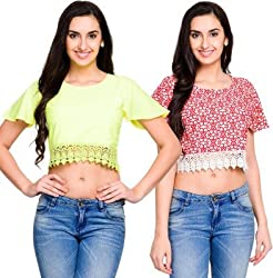 Addyvero Women's Crop top(Pack of 2)