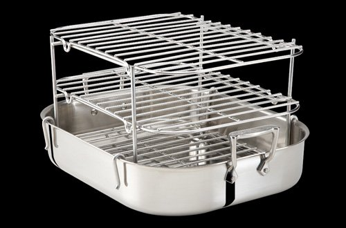 1 Best Price All Clad Stainless Roti Pan With Multi Tier