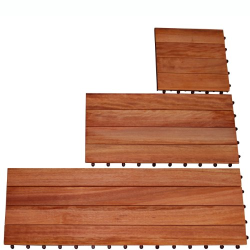 Vifah V360 Carton of 4 slat Eucalyptus Deck Planks (20 Sq Ft)