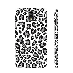 Samsung Galaxy Note 3 Lite A white Leopard designer mobile hard shell case by Enthopia