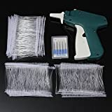 Wikor Tagging Gun for Clothing Clothes Labeler Tag Attacher Price Label Tag Gun Clothing Tag Gun with 5 Extra Steel Needles and 1000 White Barbs Faste