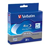 Verbatim 97237 50 GB 6x Blu-ray Double Layer Recordable Disc BD-R DL, 3-Disc Jewel Case