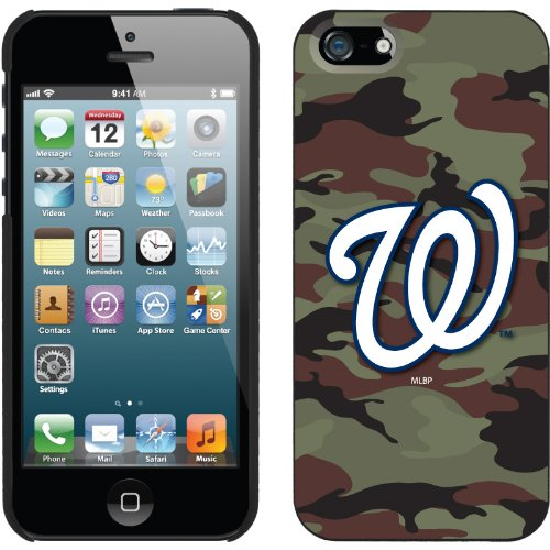 Best Price Washington Nationals - Traditional Camo design on a Black iPhone 5 Thinshield Snap-On Case by Coveroo
