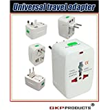 GKP Products ® Travel Universal World Wide Adaptor/All In 1 EU + AU + UK + US Plug.