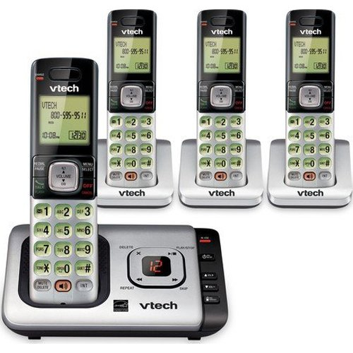 Vtech® Cs6729-4 Dect 6.0 Cordless Answering System; With 4 Handsets And Caller Id
