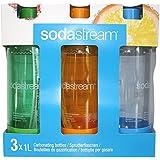 Sodastream 3000064 Pack de 3 Bouteilles Pet 1 L Colorées Plastique