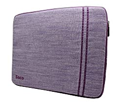 Saco Washable Fabric Laptop Notebook Ultrabook Sleeve Bag Zipper Case with Accessories Adapter Pocket Suitable for Micromax Canvas Lapbook L1161 11.6 inch Laptop