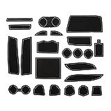 KINMEI(キンメイ) トヨタ 30系アルファード ALPHARD 白 大型ハイグレードコンソールボックス車専用設計 インテリア ドアポケット マット ドリンクホルダー 滑り止め ゴム ノンスリップ 収納スペース保護 TOYOTAk-27