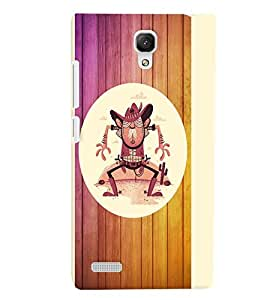 PrintVisa Cute Cartoon Modern Art 3D Hard Polycarbonate Designer Back Case Cover for Xiaomi Redmi Note