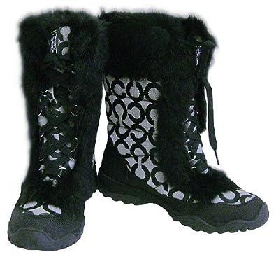 Amazon.com: NEW AUTHENTIC COACH JENNIE SNOW BOOTS (BW/Black) (6.5