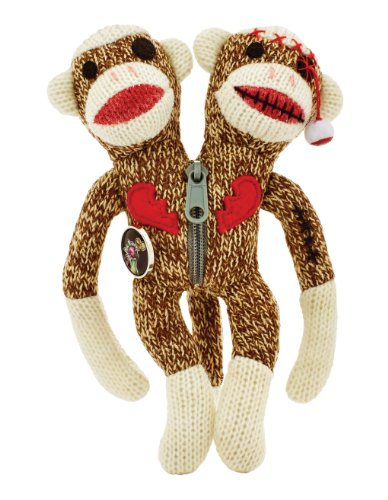 "Yarn Zombies Sock Monkey ""Sokz"" The Bi-Polar JUJU"