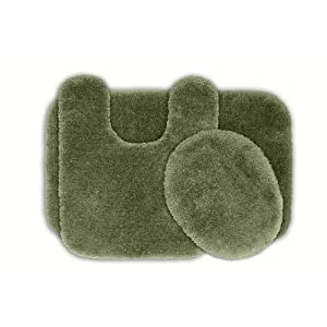 Amazon.com - Posh Plush Silver Sage Washable Bath Rug (Set