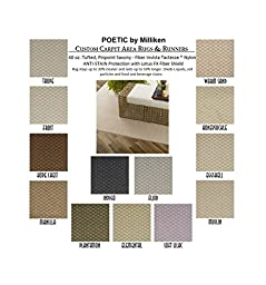 2\'x3\' FROST - POETIC - Custom Carpet Area Rug - 40 Oz. Tufted, Pinpoint Saxony - Nylon by Milliken (13 Colors to Choose From)