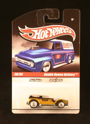 DOUBLE DEMON DELIVERY 30/34 * BLACK & GOLD * Slick Rides 2010 Hot Wheels Delivery Series 1:64 Scale Die-Cast Vehicle