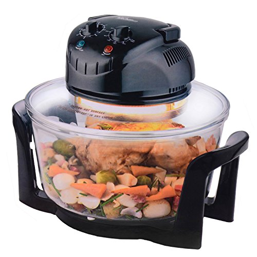 12-litre-premium-1200w-halogen-oven-cooker-with-high-rack-low-rack-and-tongs-included-black