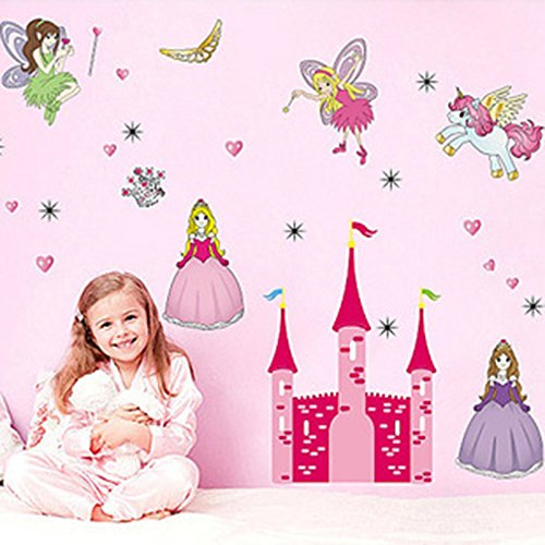 Princess Room Pretty Fairy Girl Removable Pvc Wall Sticker Home Decor Decals front-867991