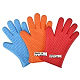Skywalk Heat Resistant Silicone Gloves for Barbeque and Cooking + Free 1 Incense Stick Pack for Good Smell