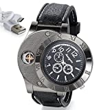 Sporty Quartz Wristwatch with Flameless Cigarette Lighter