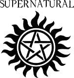 Supernatural American tv series drama horror action adventure mystery fantasy logo - DIY easy to apply wall vinyl sticker fun and cool for home improvement and decorations makes the perfect gift for fans of the show