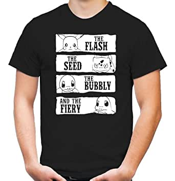 The Flash, Seed, Bubbly and the Fiery T-Shirt   Nintendo   Fun (XL)