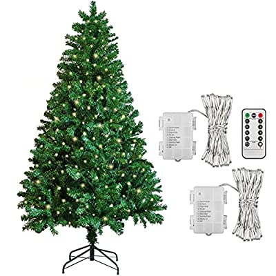 SPECIAL OFFER 6ft Artificial Christmas Tree Plus 2XPack 100 LED Warm White Lights