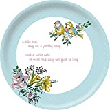 Creative Tops Katie Alice Bird Song Shabby Chic Vintage Style Round Tin Serving Tray, Multi-Colour