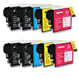 Shop At 247 ® Compatible Ink Cartridge Replacement for Brother LC61 (4 Black, 2 Cyan, 2 Yellow, 2 Magenta, 10-Pack)