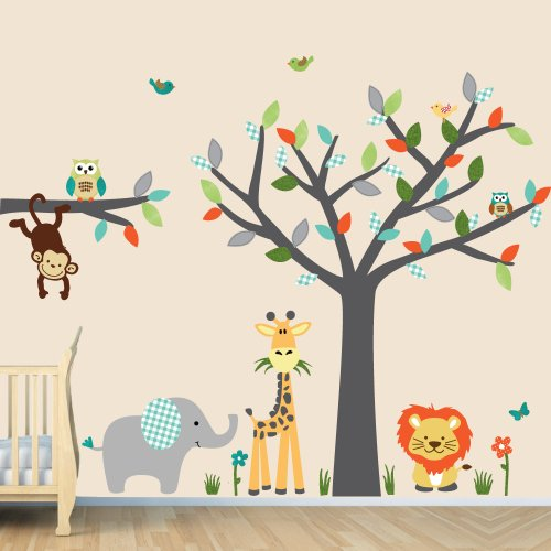 Jungle Wall Decals, Baby Room Wall Decals, Kids Room Wall ...