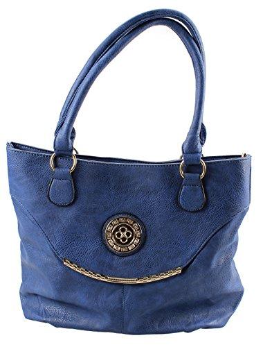 Q Collection Ferne Blue Large Shoulder Handbag
