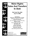 img - for Water Rights Sales And Transfers in Utah book / textbook / text book