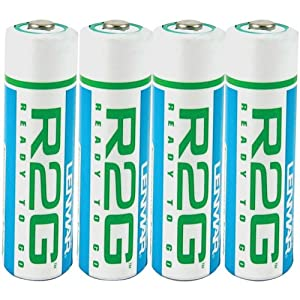 Lenmar Ready-2-Go R2GAA4   1.2V 2150mAh Rechargeable NiMH AA Battery (4 -Pack)