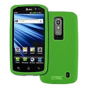 AT&T LG Nitro HD Neon Green Silicone Skin Case Cover