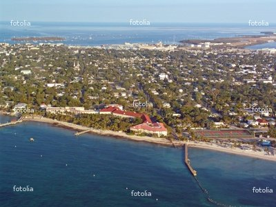 "Wallmonkeys Peel and Stick Wall Graphic - Key West, Florida from the Air - 18""W x 14""H"