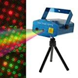 XuMarket(TM) 2-color Multifunction Disco DJ Club holographic laser star projector with Holder & Remote Control, Support Sound Active Function(Blue)