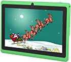 Osgar Ultrathin 7 inch 16GB Tablet PC,Google Android 4.4 KitKat OS, Allwinner A33 Quad Core CPU, 800x600 Multi-touch Screen, Dual Camera, Wifi ,3D Games supported (Green)