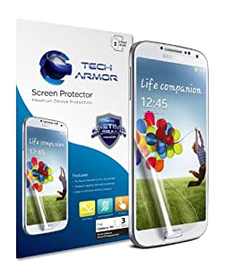 Tech Armor Samsung Samsung Galaxy S4 (Not S4 ACTIVE) Anti-Glare/Anti-Fingerprint (Matte) Screen Protectors [3Pack] Lifetime Warranty