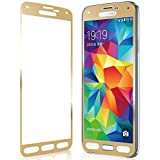 Aryamobi Gold Color Full Screen Tempered Glass Screen Protector For Samsung Galaxy S4 Screen Cover With FREE Transparent...