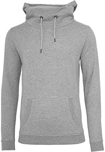 URBAN CLASSICS - collo alto con cappuccio (grey) grigio L