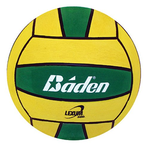 buy Baden Lexum Official Size 5 Deluxe Rubber Water Polo Ball, Green/Yellow for sale